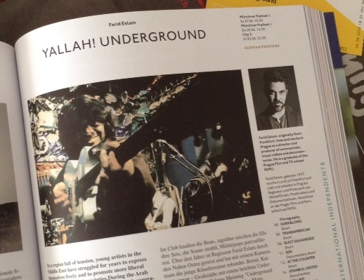 Yallah! Underground. Picture taken from official Munich International Filmfestival Catalogue (2015, page 143)