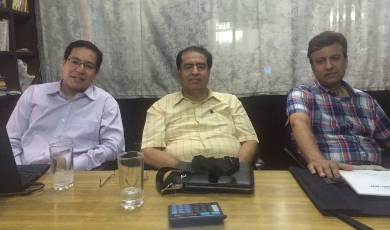 Allied Publishers BOD at their Bangalore office in August 2015 (from left to right): Arjun Sachdev, Sunil Sachdev (MD) and Ravi Sachdev