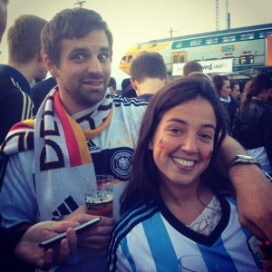 Bernhard from Germany and Lucrecia from Argentinia - a great team!
