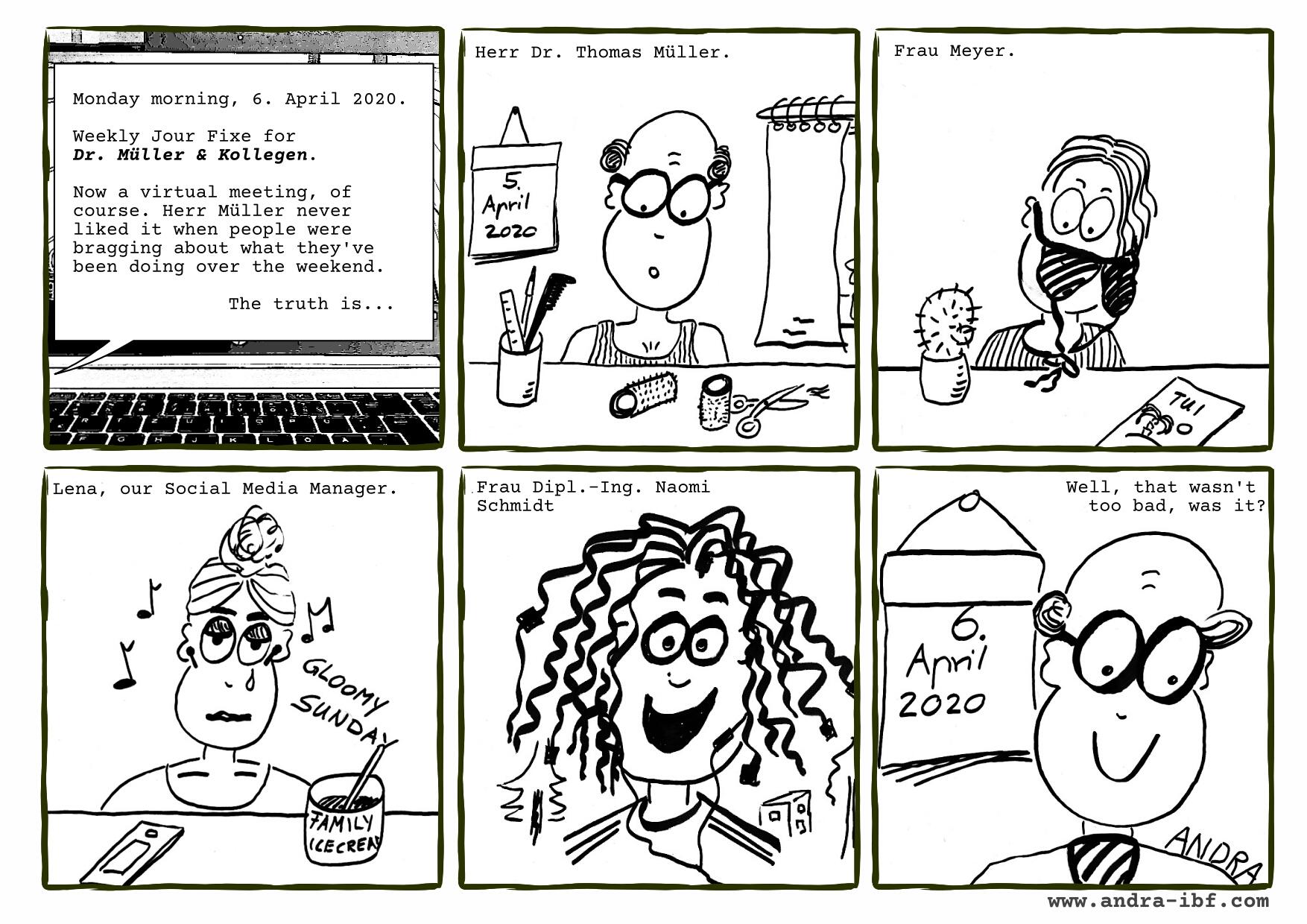 Corona Comic by Andra Riemhofer
